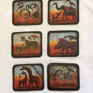 Other - Animal print Coasters